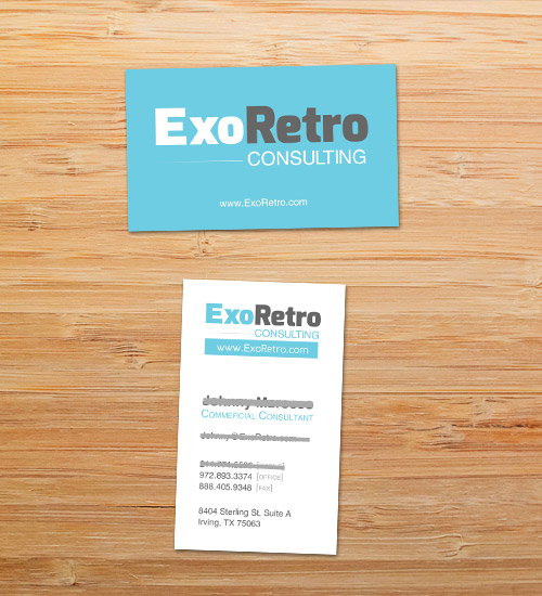 Exo Retro | Business Card Design