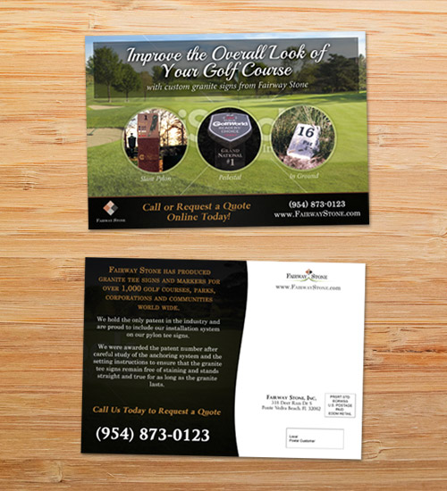 Fairway Stone | EDDM Postcard Design