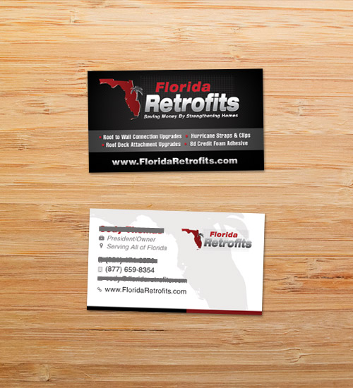 Florida Retrofits | Business Card Design