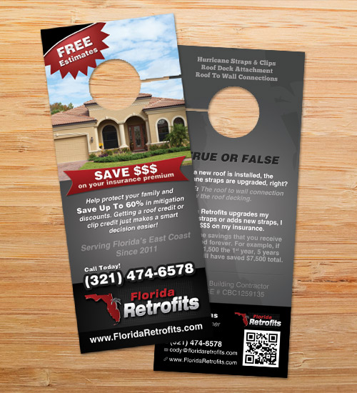 Florida Retrofits | Door Hanger Design