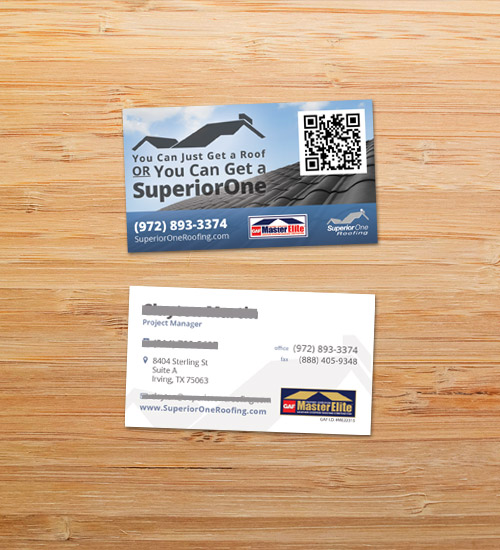 Superior One Roofing | Business Card Design