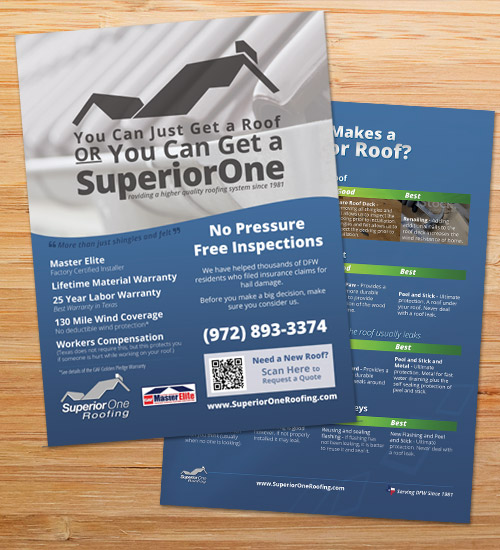 Superior One Roofing | Flyer Design