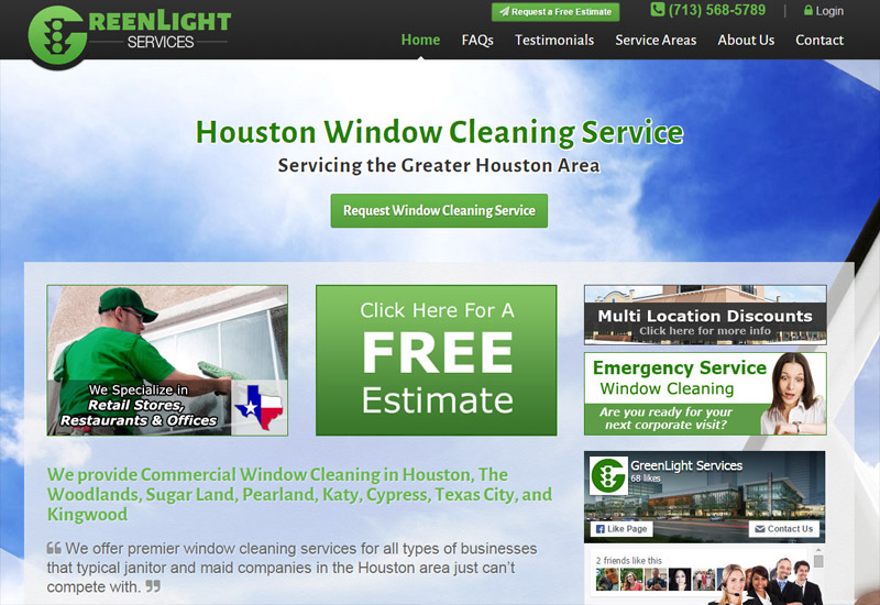 Green Light Services | Commercial & Residential Window Cleaning Services in Houston Texas