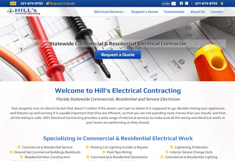 Hills Electrical Contracting | Florida Statewide Commercial and Residential Electrical Services